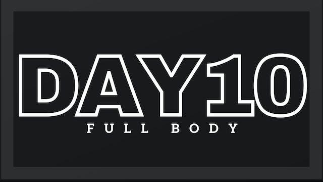 Phase 2 Day 3 - Full Body