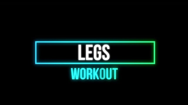 Leg Workout #1 FOUNDATION EXRCISES