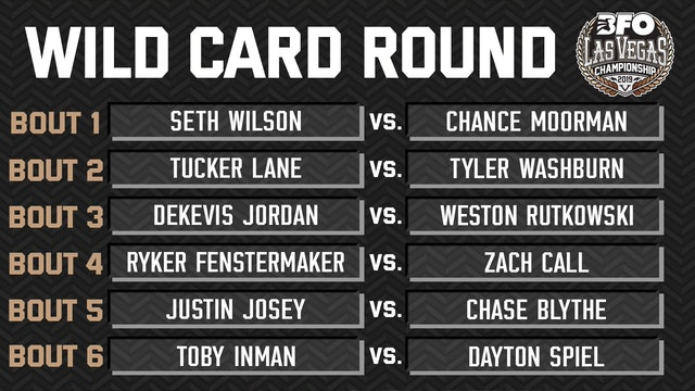 BFO Las Vegas Wild Card Round