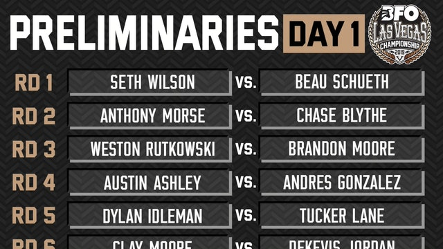BFO Las Vegas Preliminary Round - Day 1