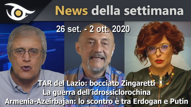 TAR del Lazio: bocciato Zingaretti - News settimana 26 Sett - 2 Ott 2020