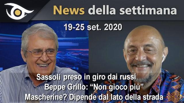 SASSOLI PRESO IN GIRO DAI RUSSI - News settimana 19-25 Set 2020
