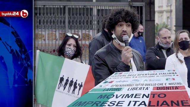 A SANREMO LA PROTESTA IN PIAZZA DI IM...