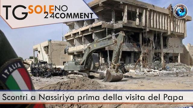 TgSole24 NoComment 25.02.21 | Scontri a Nassiriya prima della visita del Papa