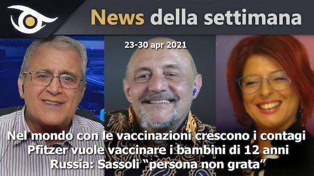 Nel mondo con le vaccinazioni crescono i contagi - News 23-30 Apr 2021