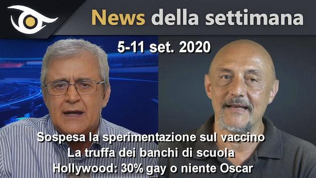 SOSPESA LA SPERIMENTAZIONE SUL VACCINO - News settimana 05-11 Set 2020