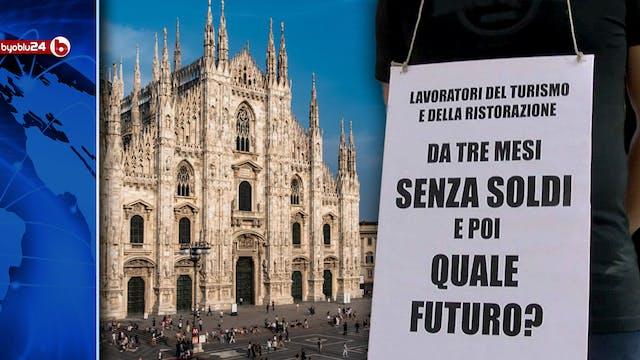 LAVORATORI IN PIAZZA A MILANO SIAMO S...