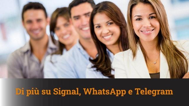 11-1-2021 Approfondimenti su Signal, WhatsApp e Telegram - MN #76