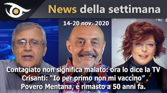 Contagiato non significa malato - News Settimana 14-20 Nov 2020