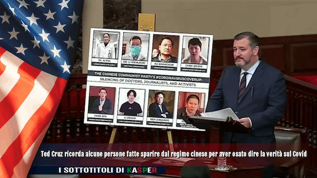 T. Cruz ricorda persone fatte sparire dal regime cinese per aver detto la verità