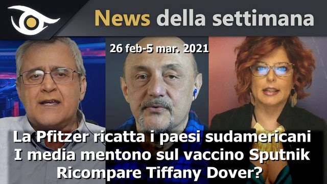 La Pfitzer ricatta i paesi sudamericani - News 26 Feb-5 Mar 2021