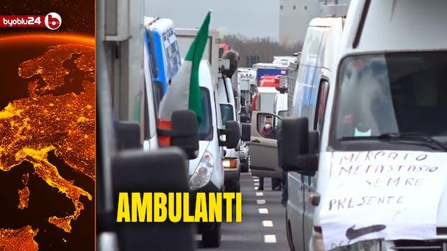 AMBULANTI BLOCCANO L'A1 ROMA-NAPOLI: ...