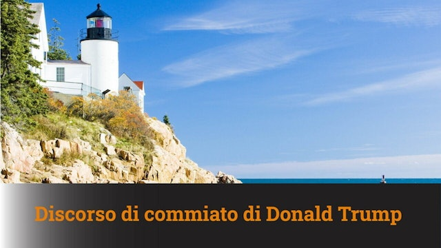 19-1-2021 Discorso di commiato di Donald Trump - commentato- MN #82