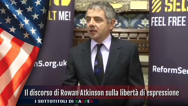 Il discorso di Rowan Atkinson sulla libertà di espressione