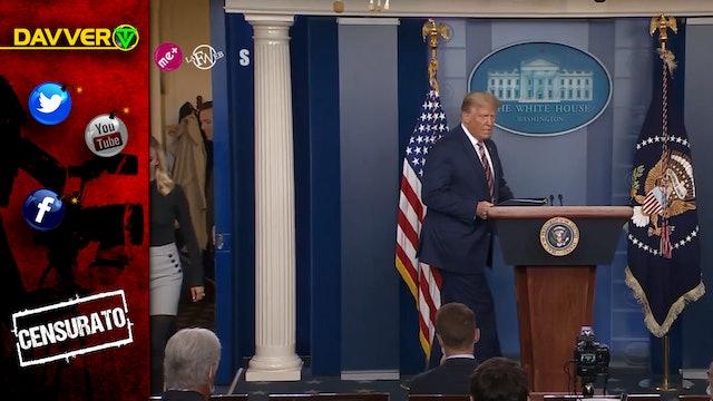 Il discorso di Trump CENSURATO dalle televisioni.