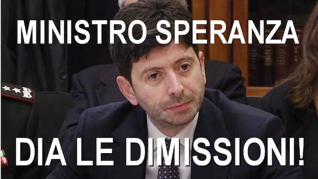 Ministro Speranza dia le dimissioni