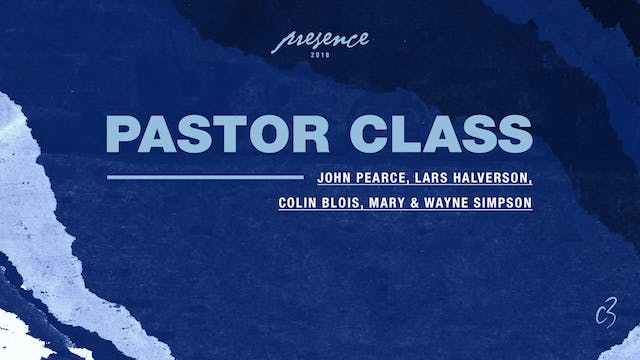 Master Classes 2018 - Pastor Class