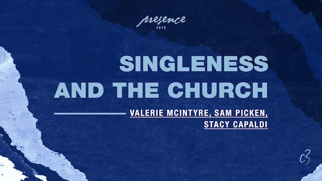 Master Classes 2018 - Singleness and the Church