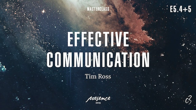 Masterclass 2019 - Day One - Effective Communication