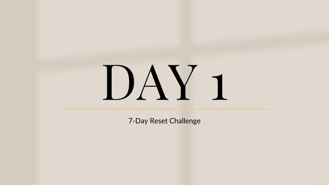 Day 1: Discipline