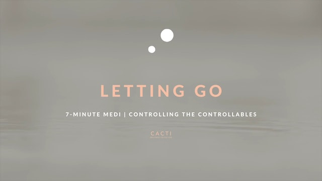 7-Minute Meditation for Releasing Control