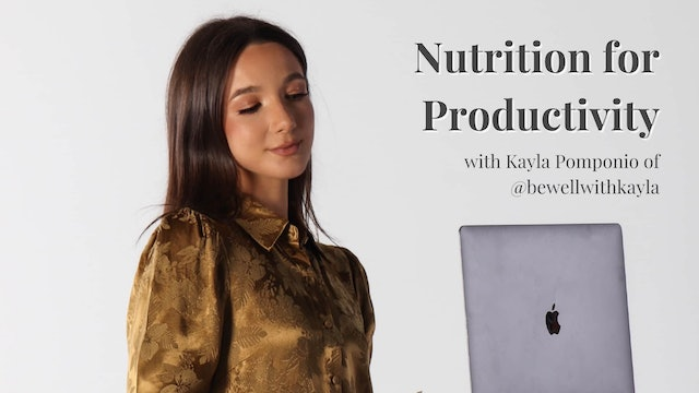 Nutrition for Productivity