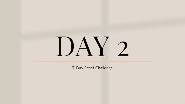 Day 2: Recharge