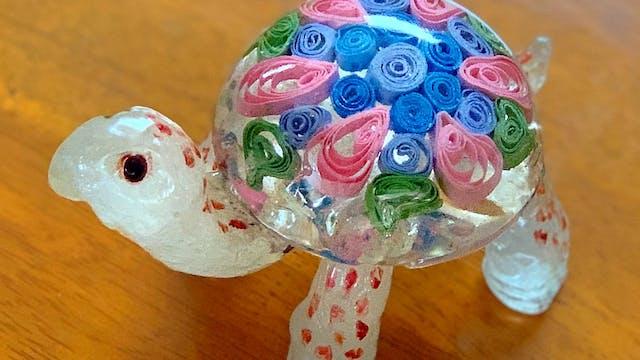 Make Sugar Like Glass - Floral Turtle