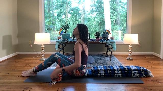 Basic Reclining Meditation and Prānāyāma set up