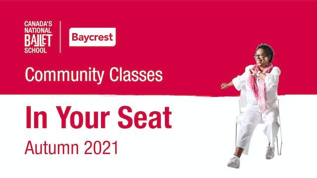 Community Classes • Autumn 2021 • In Your Seat