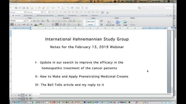 IHSG2019-02-13_InternationalHahnemannianStudyGroup