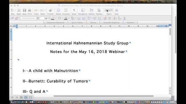 2018-05-16 13.33 International Hahnemannian Study Group 2018