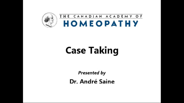 Case Taking Part 1