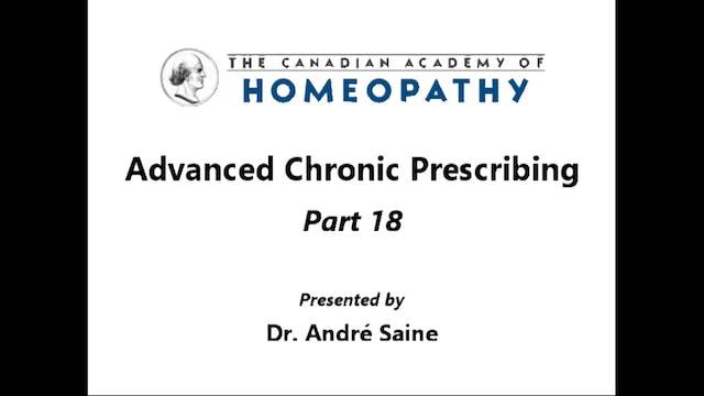 Advanced Chronic Prescribing Part 18a