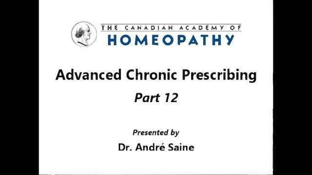 Advanced Chronic Prescribing Part 12a