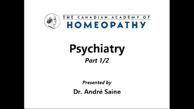 Psychiatry Part 1a