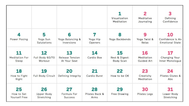 Downloadable Program Calendar