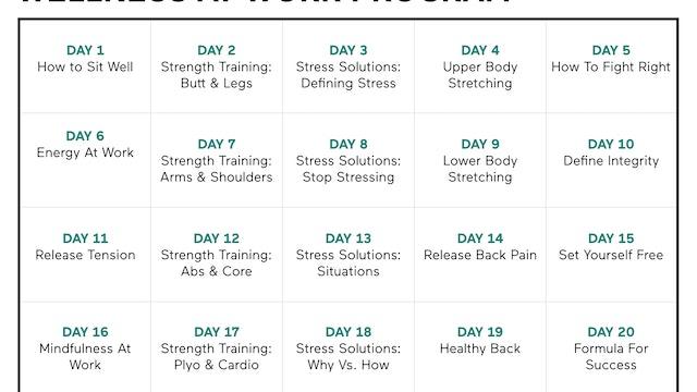 Wellness At Work Calendar