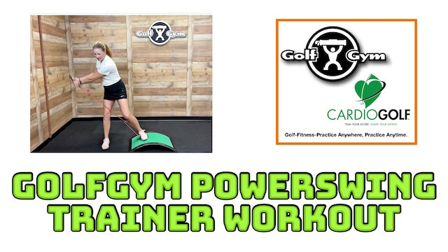 11:21 min-GolfGym® PowerSwing Trainer and Slope Workout (no music)