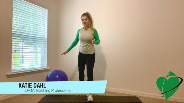 5:25 minute Balance Ball Workout Featuring Katie Dahl