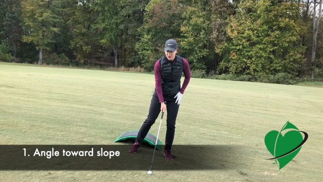 2-minute  CardioGolf Slope to Help You Rehearse Sloping Lies
