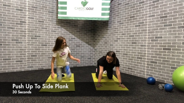 18:42 minute Junior Golf Fitness Workout Featuring Britni Gielow