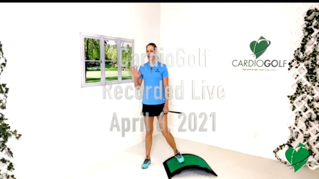 45-minute CardioGolf Recorded Live-Groove Your Swing NO MUSIC  (Live 010)