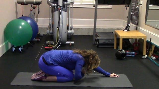 1-minute Prone Shoulder Stretch on Floor