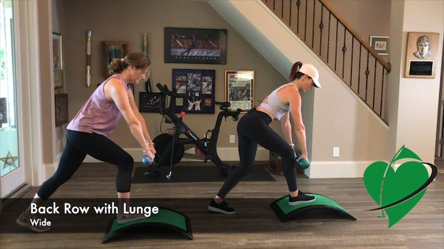 3-minute Strength Back Row with Lunge