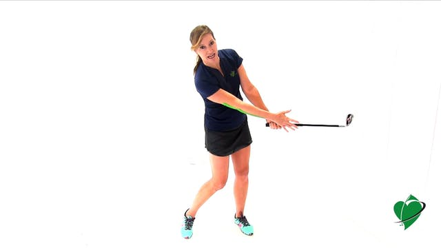 1-minute CardioGolf Swing Position No. 5