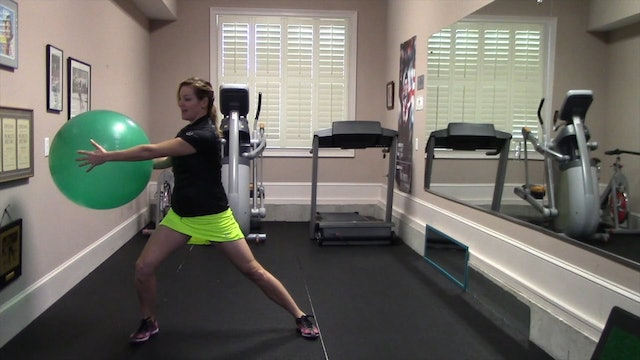 1:25 minute Side Lunge with Twist