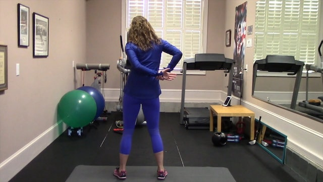 1-minute Standing Shoulder and Arm Stretch