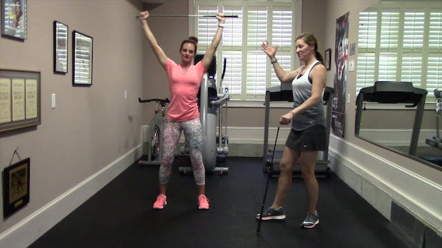 1.28 minute-Side Stretch with Club