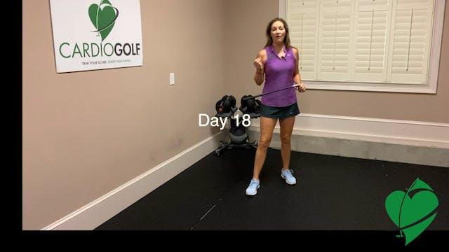 Day 18-CardioGolf™ 30 Days to a Fluid...